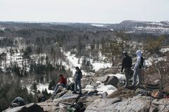 Rock Climbing Photo: Top of Slugg's Bluff (early spring)