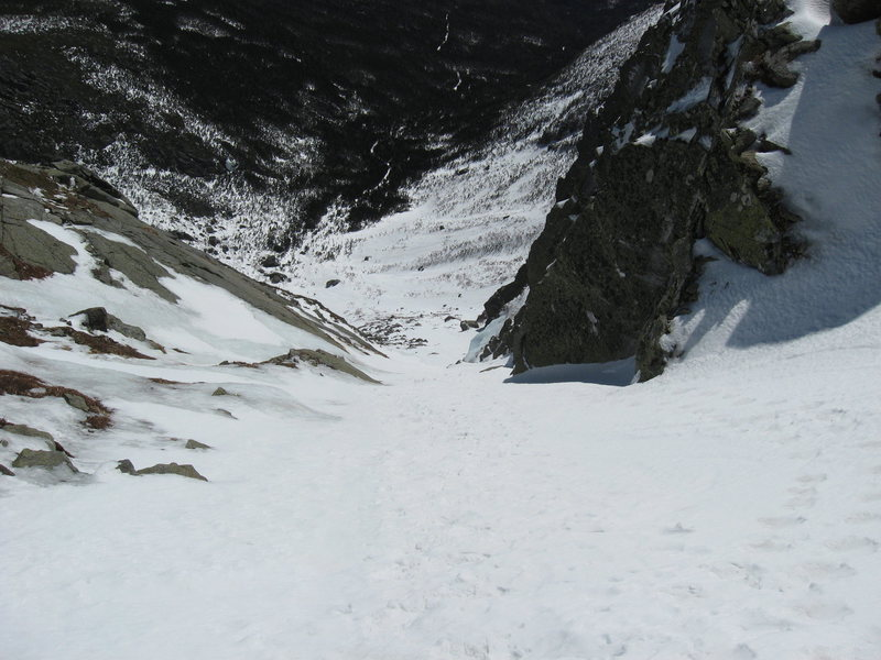 Looking down Central gully