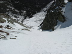 Rock Climbing Photo: Looking down Central gully