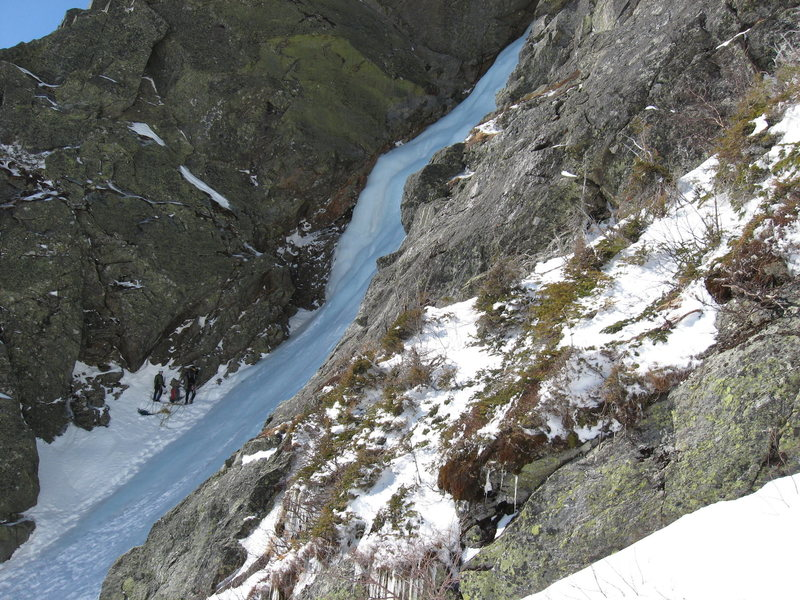 The start of Pinnacle Gully