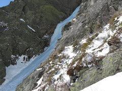 Rock Climbing Photo: The start of Pinnacle Gully