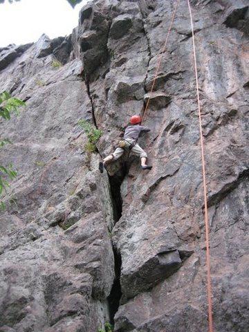 Matt's first crack climb