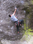 Rock Climbing Photo: The start. Hold out to the right is a dummy hold. ...