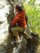 Rock Climbing Photo: My right hand is on the crimp you go for in the cr...