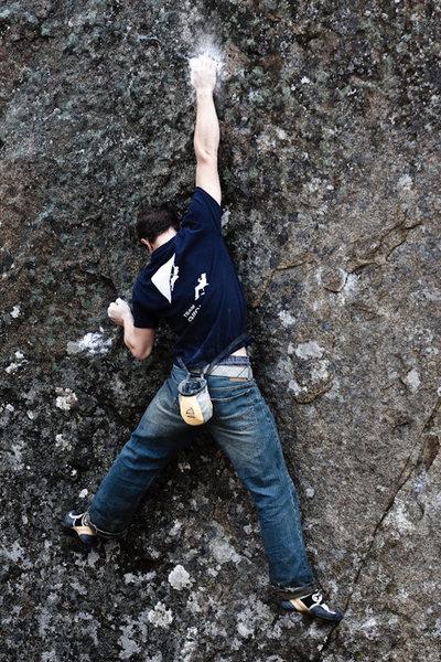 Rock Climbing Photo: Making the reach on Giant Man