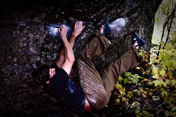 Rock Climbing Photo: Funking out the exit sequence.