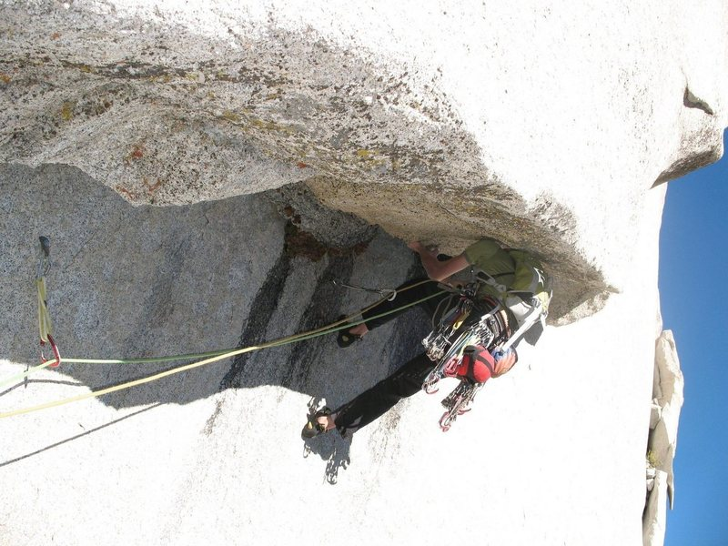 Rock Climbing Photo: Starting the third pitch of No Country for Old Men...