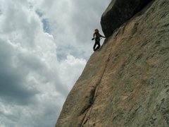 Rock Climbing Photo: Just stoked about the prior moves and the easy ter...