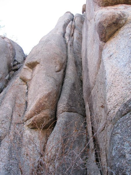 Rock Climbing Photo: The left crack system.