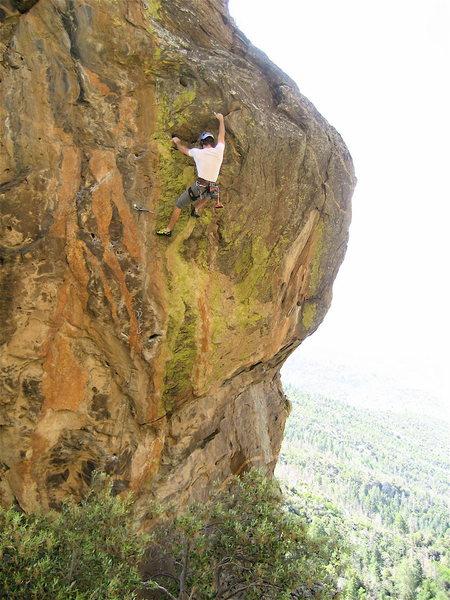 Rock Climbing Photo: Brent on Draw Iron