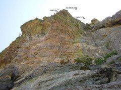 Rock Climbing Photo: Topo photo