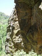 Rock Climbing Photo: Trundle East- main face. Josie included for scale.