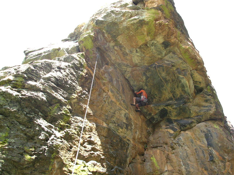 Cleaning the first ascent.