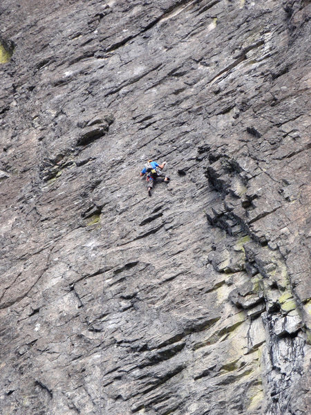 Rock Climbing Photo: Greg Garretson on 1st pitch of the First Free Asce...