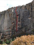 Rock Climbing Photo: The Line. Go Party.