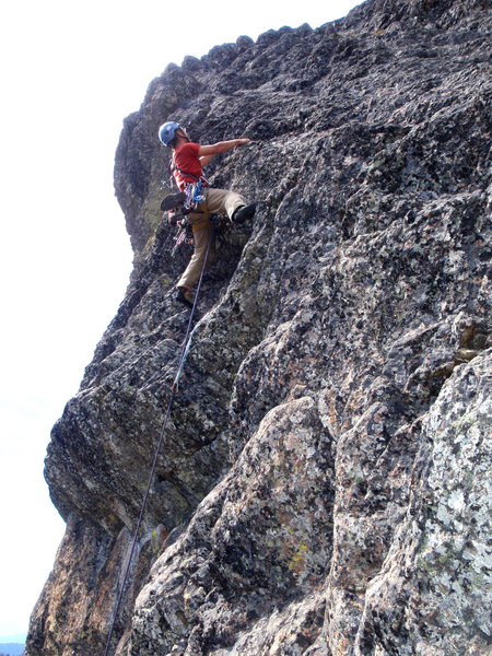 Rock Climbing Photo: The Kiwi, Tom Johns, on the 3rd pitch of the FFA.