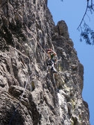Rock Climbing Photo: Tom Johns drilling on the first.