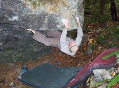 Rock Climbing Photo: Moving onto the face