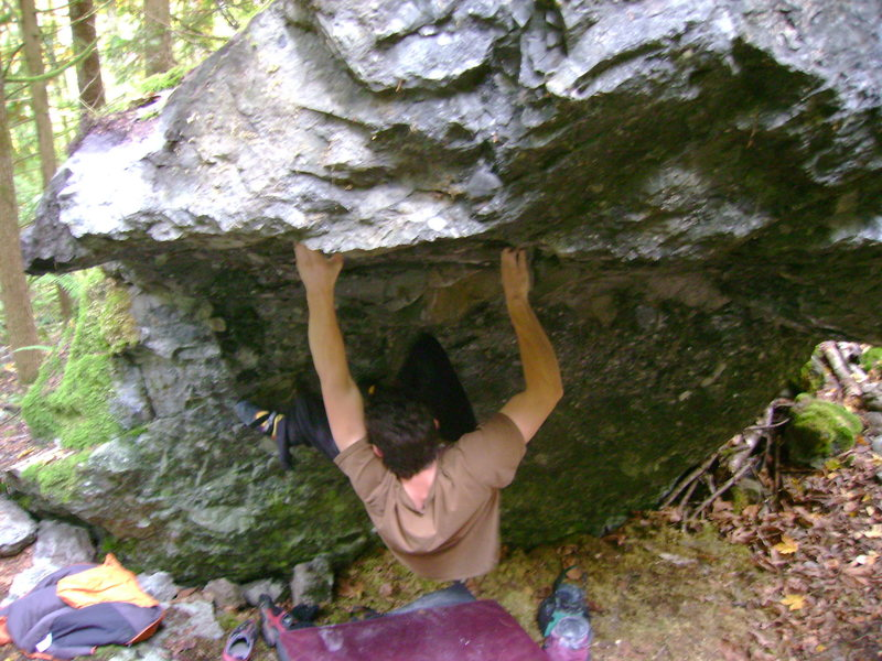 Marc-Andre on the second ascent