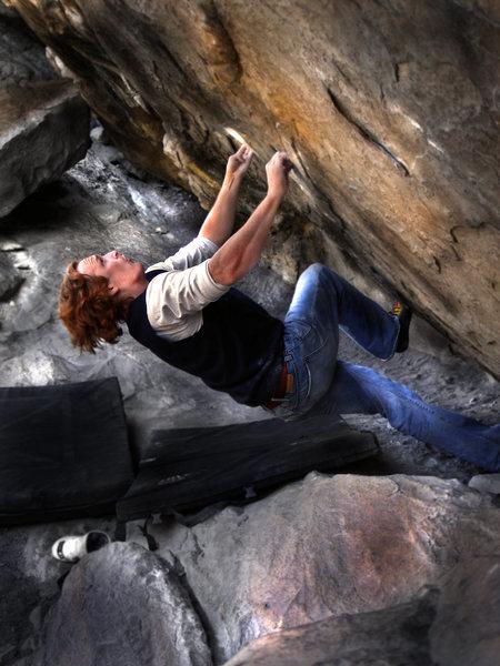"Rock Climbing Photo: Luke Childers climbing on ""Air Jordan."" ..."