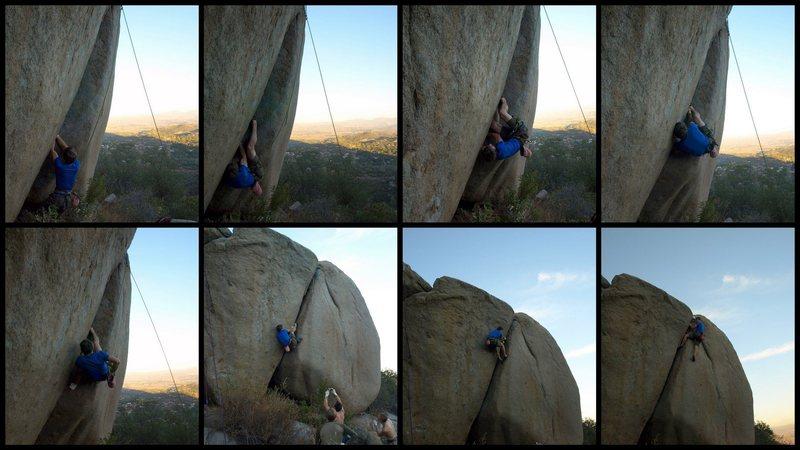 Rock Climbing Photo: Sequence of Luke sending Right Long's crack.  Phot...