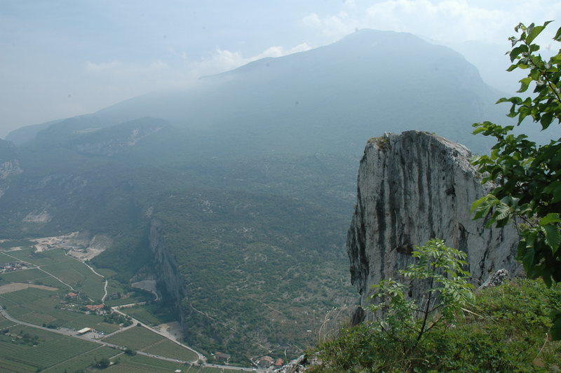 Rock Climbing Photo: The Arco valley from above arco.