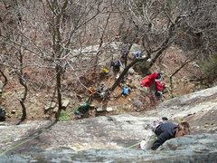 Rock Climbing Photo: A day at the crag (Mt. Magazine). Pictures are alw...