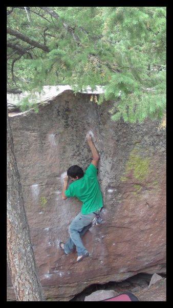 Rock Climbing Photo: My crux.