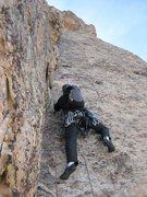 Rock Climbing Photo: Jonny starting up P-5 (from Doug Hemken's beta)  1...