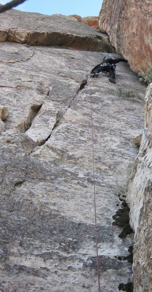 Rock Climbing Photo: Jonny just about to enter back into the chimney. P...