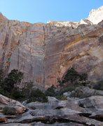Rock Climbing Photo: The approach to Rainbow Wall involves a lot of low...