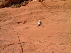 Rock Climbing Photo: Bill Weiss just getting started on P1.