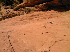 Rock Climbing Photo: Bill Weiss gets started on P2.