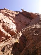 Rock Climbing Photo: Mike Houston above the crux.