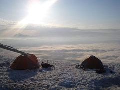 Rock Climbing Photo: Mt. Baker camp.  Shuksan in background.