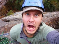 Rock Climbing Photo: Don't worry, I'm not really falling