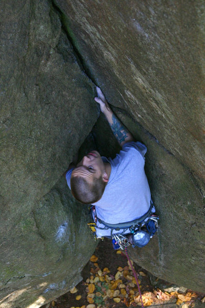 Rock Climbing Photo: the roof is another upper cliff classic...