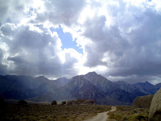 Rock Climbing Photo: stormy day in the alabama hills