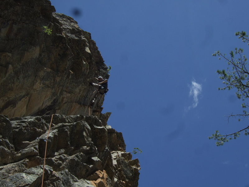 Rock Climbing Photo: 5.9 towards the left with steep and juggy finish, ...