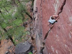Rock Climbing Photo: Leading at DL