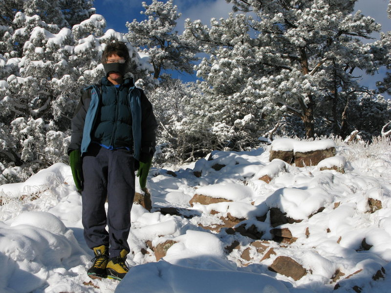 Part way up Sanitas when it was -15F
