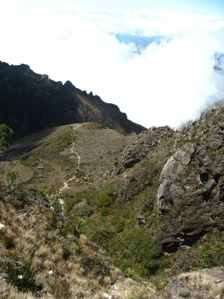 Part of the descent from Volcan Baru