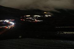 Rock Climbing Photo: Climbing Fuji via Yoshida at night during a full m...