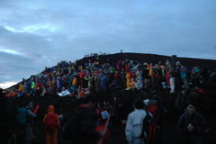 Rock Climbing Photo: Summit real estate to catch the rising sun.  Torii...