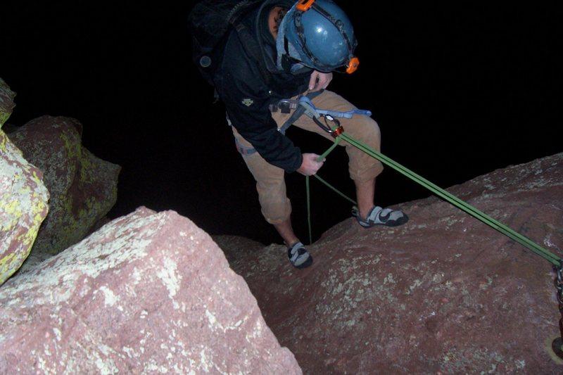 Rock Climbing Photo: Rap off 3rd moonlight accent w/o moon
