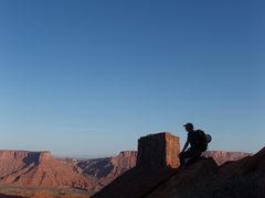 Rock Climbing Photo: John B in the early morning