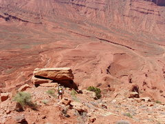 Rock Climbing Photo: Headed down