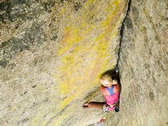 Rock Climbing Photo: my first great lead, heartbreaker 10d at city of r...