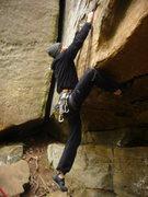 Rock Climbing Photo: The crux/start of Danita Dolores