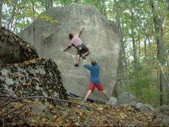 Rock Climbing Photo: Phantom Shower. Taller than it looks with a commit...